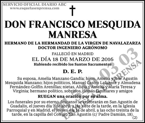 Francisco Mesquida Manresa